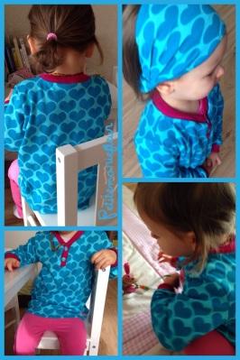 Herzchen Shirt mit Haarband
