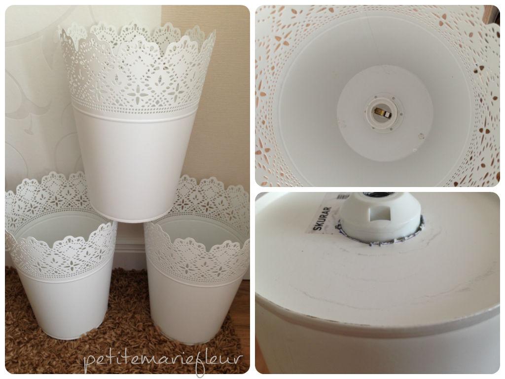diy lampe aus blument pfen petite marie fleur. Black Bedroom Furniture Sets. Home Design Ideas