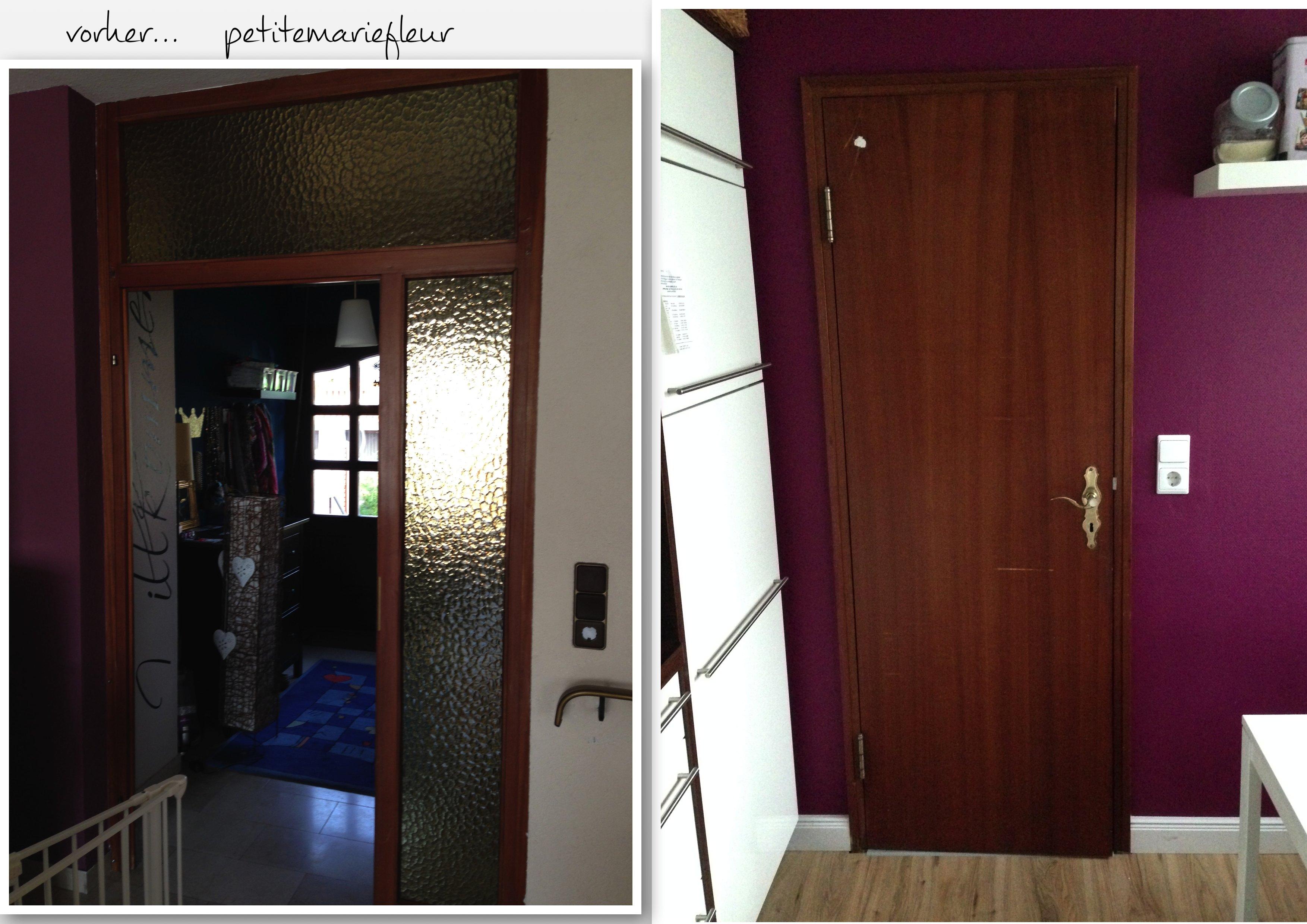 diy neue t ren und glasscheiben bekleben petite marie fleur. Black Bedroom Furniture Sets. Home Design Ideas