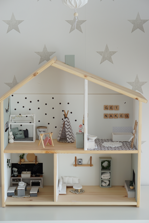 Diy ikea puppenhaus flisat petite marie fleur - Ikea puppenhaus mobel ...